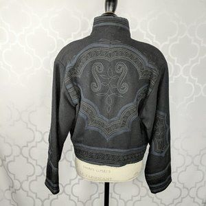 Roqana Imports Black Guatemalan Embroidered Jacket